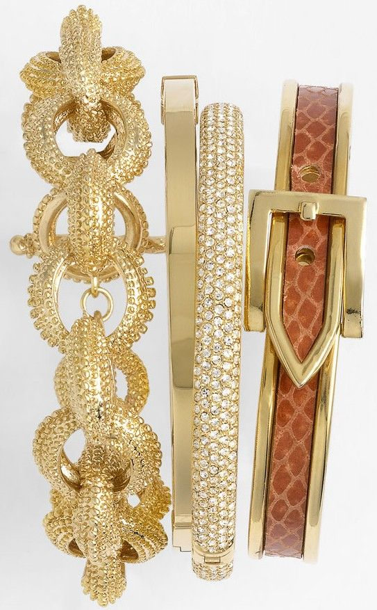 Nadri, Cara Accessories & Michael Kors Bangles .♥✤   Keep the Glamour   BeStayBeautiful