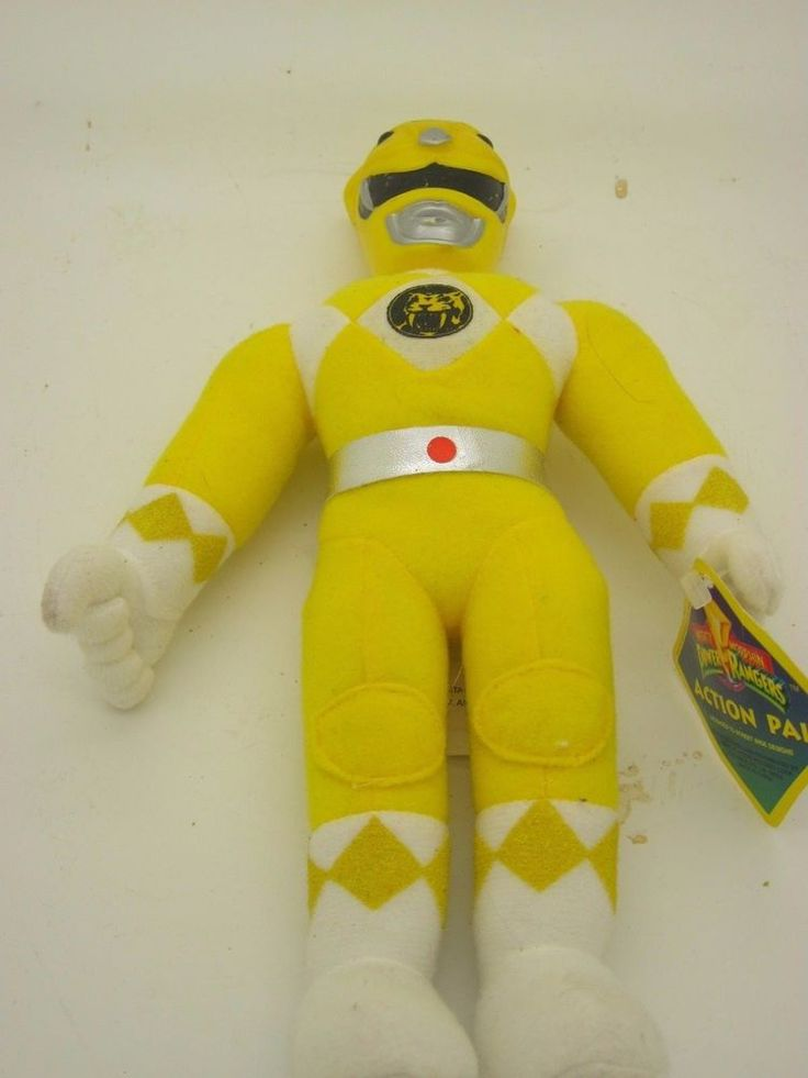 mighty morphin power rangers yellow ranger plush toy 1993 doll 90s action pal from $14.99