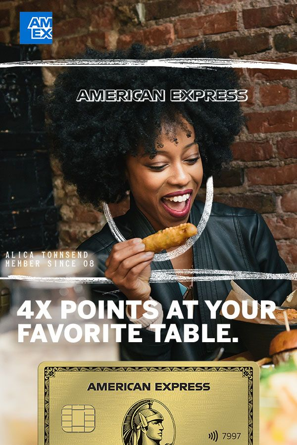 Earn 4X points with the Gold Card when you dine at U S