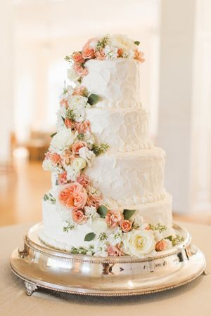 Peaches and cream wedding cake - Brides of Adelaide