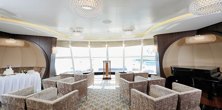 Disney Cruise Wedding room if weather doesn't cooperate.