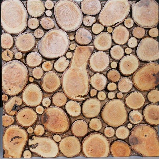 Natural Wood Mosaic Tile Nwmt057 Round Shaped Wood Mosaic