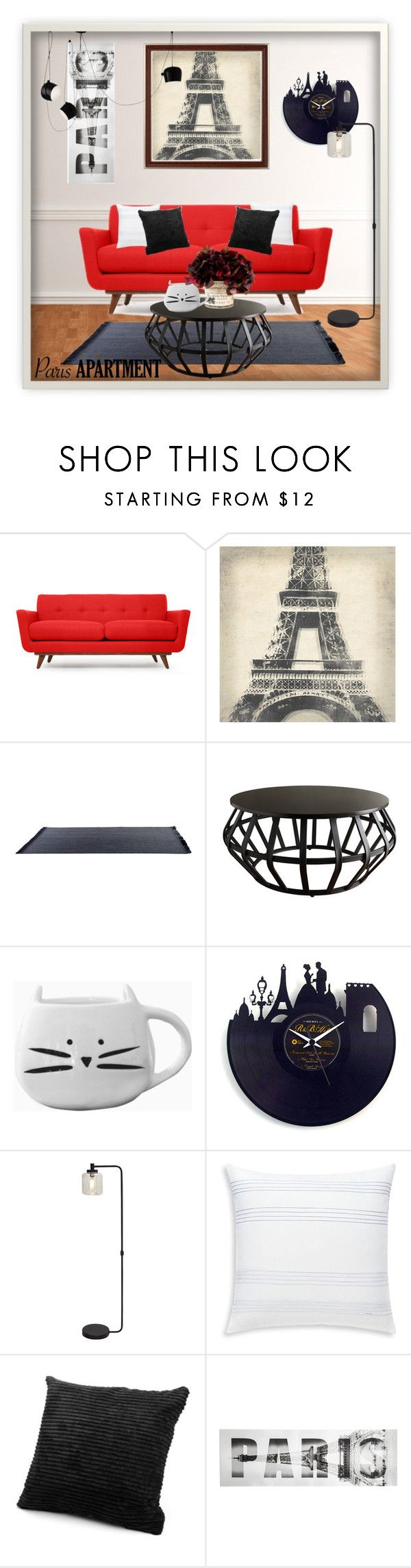 """""""The Perfect Paris Apartment"""" by whispering-shade ❤ liked on Polyvore featuring interior, interiors, interior design, home, home decor, interior decorating, Thrive, Leftbank Art, Tribecca Home and Bluebellgray"""