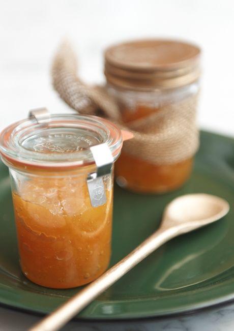Presente de Natal: geleia de damasco com laranja