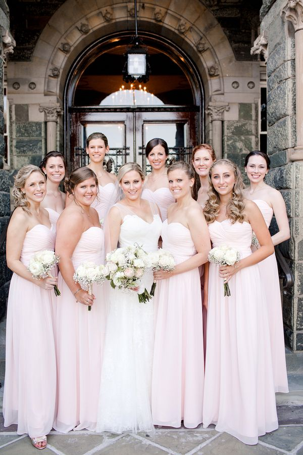 Pale Pink Bridesmaids Dresses | photography by Katelyn James