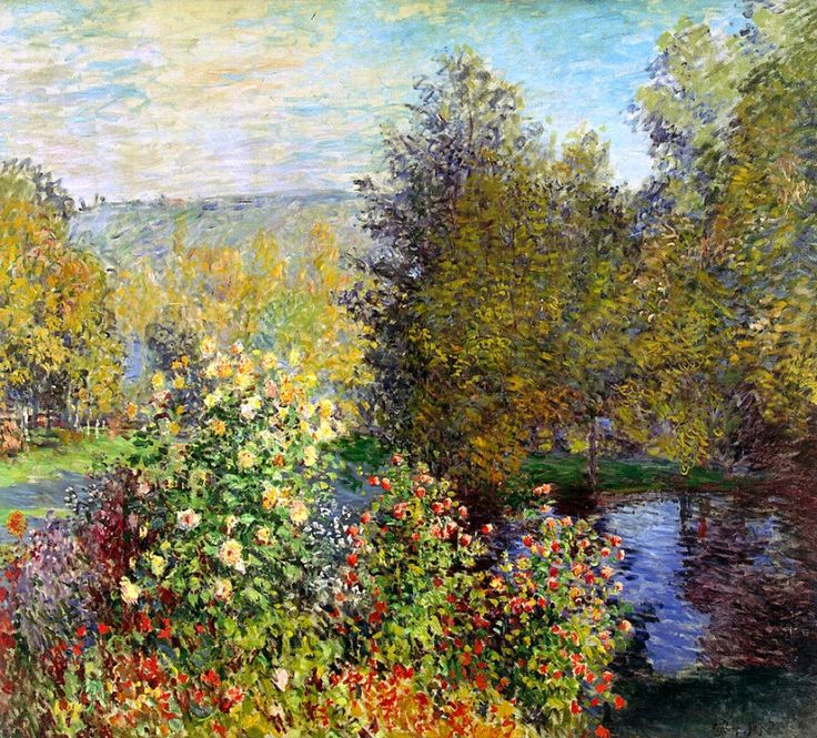 Claude Monet. A Corner of the Garden at Montgeron (1877).