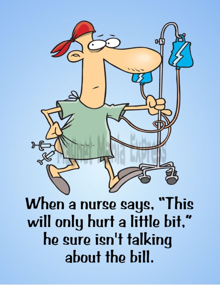 Metal Magnet Male Nurse Hurt Little Bit Not About Bill Family Friend Humor