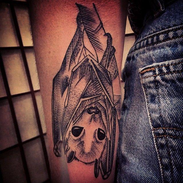 Geometric bat tattoo google search tattoos for Bat sleeve tattoo
