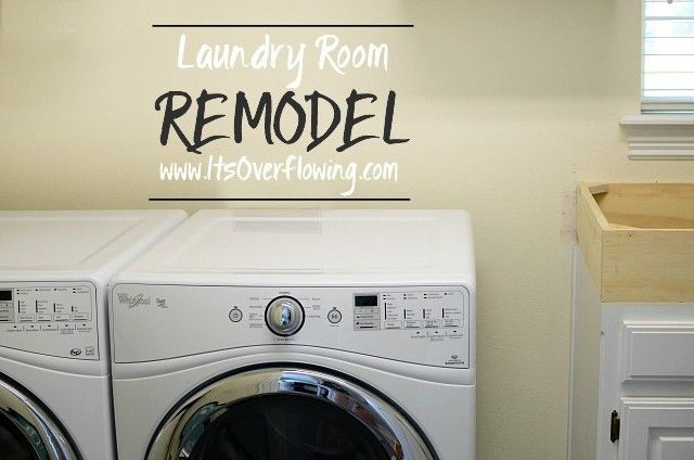 Love this laundry room remodel from itsoverflowing using for Laundry room renovation