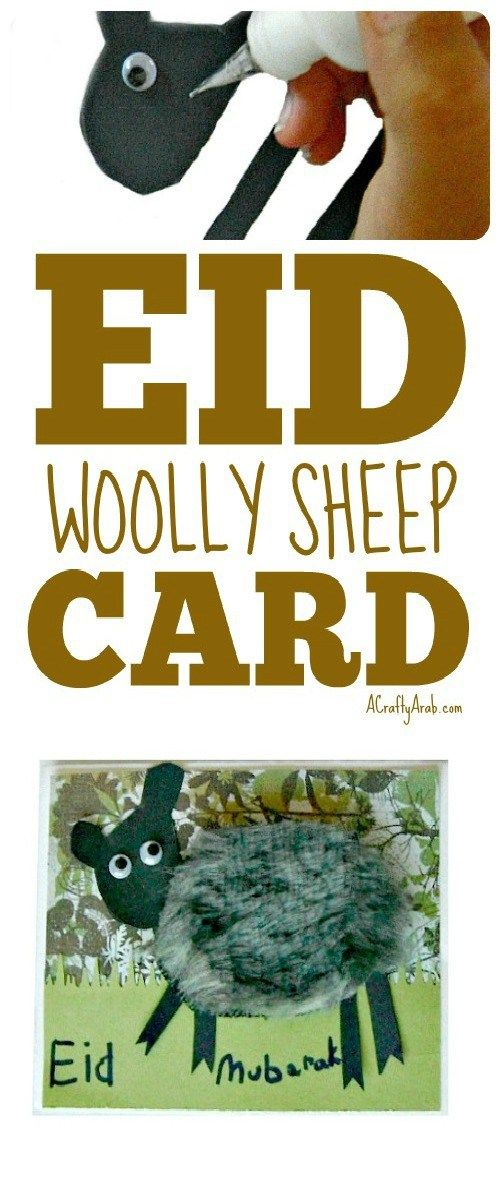 A Crafty Arab: Woolly Sheep Eid Mubarak Card {Tutorial}. We made more Eidcards today! But my five year old wanted to get involved, so I thought it might be nice to make easier cards for her.  Eid is the Arabic word for festival or holiday and is used to commemorate the two major Islamic religions, as well as birthdays, Christmas, Mother's Day, etc. …