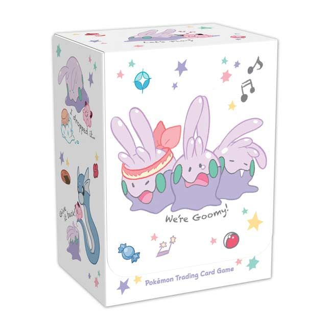 Official Goomy Pokémon Trading Card Game deckbox. Stores a complete Pokémon TCG deck and features the loveable Goomy.