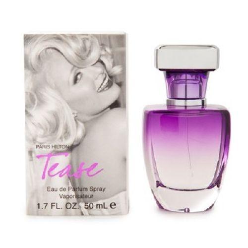 Paris hilton Perfume paris hilton tease 50 ml Introducido en el año 2010. Perfume Paris Hilton Tease by Paris Hilton, chipre floral fue creado como un homenaje a Marilyn Monroe. Es sexy, pero inocente. Es una interpretación moderna de las fragancias 60s glamour. Notas incorporar fuji manzana, durazno