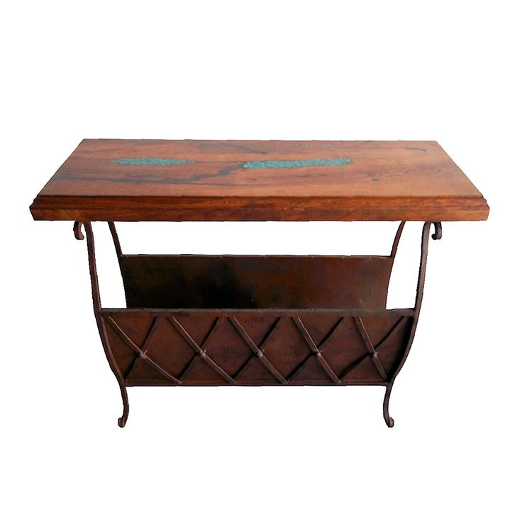 Mesquite Accent Table with Magazine Rack