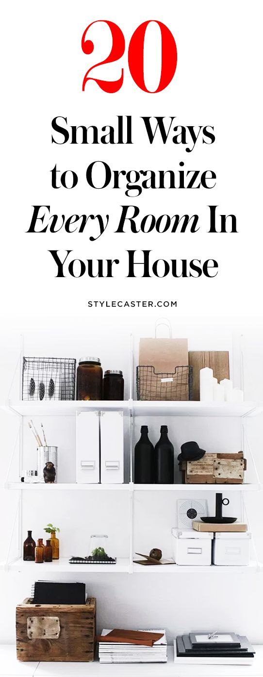 20 Small Ways to Organize Every Room in Your House   These organization and storage tips are gorgeous and simple!   @stylecaster