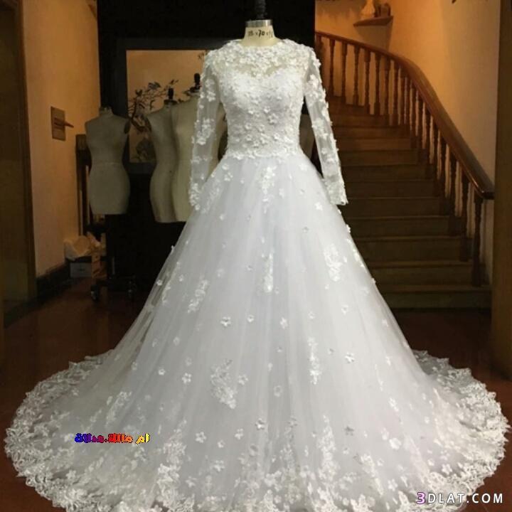 فساتين زفاف 2018 اشيك فساتين الزفاف العالمية باكمام طويلة زفاف للمحجبات Dresses Wedding Dresses Wedding