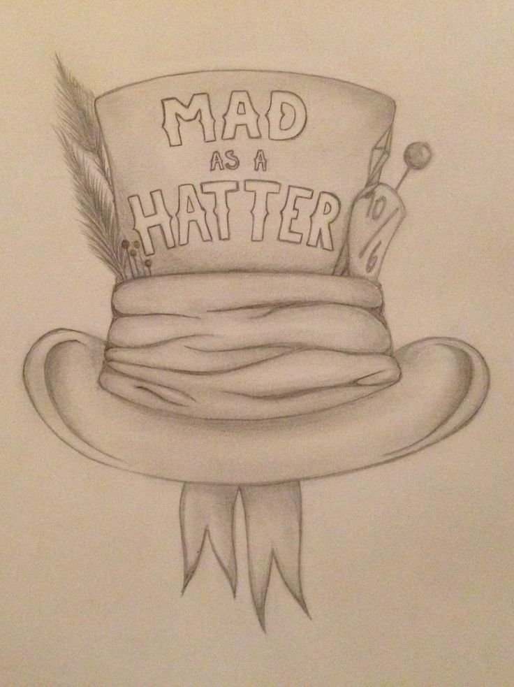Mad hatter alice in wonderland mad as a hatter