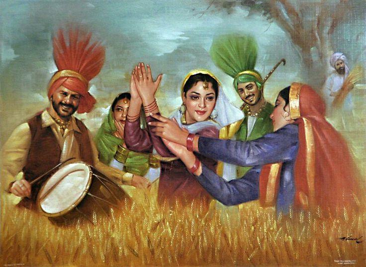 Punjabi people dansing (bhangra)