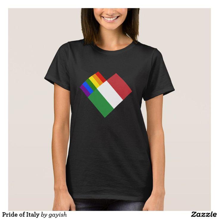 Pride of Italy t-shirt.  #gaypride #gayrights #tshits #prideshirt #pride #flags #heart #italy #italia #gayitaly #gayitalia