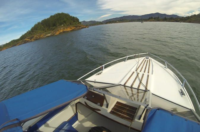 Guatape and El Peñol Lake Private Tour from Medellin Live a magical adventure! in this all inclusive private tour you will get to sail around Guatape and El Peñol lake in a motorboat, visit Pablo Escobar's bombed lake mansion, have lunch in a beautiful lake villa,walk around Guatape where you will get to know the local culture and have the best coffee you've ever had. Finally you will get visit the Peñol Rock, walkit all the the way to the top and enjoy the view. All this i...