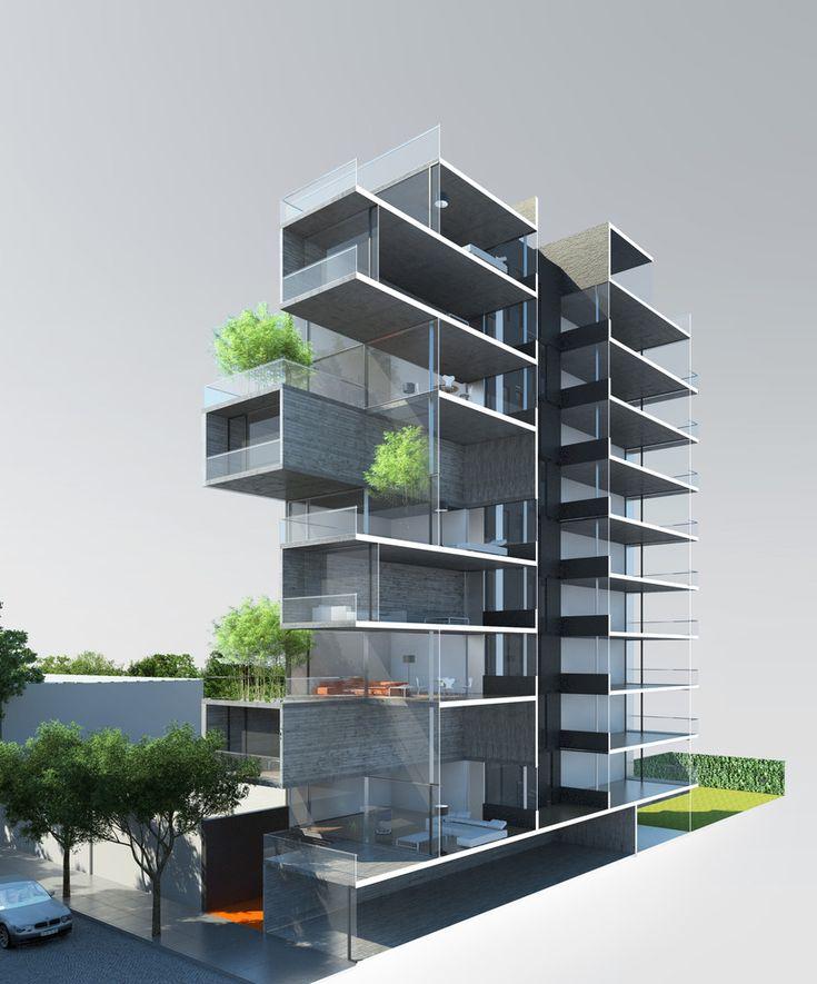 193 mejores im genes de edificios departamentos for Departamentos arquitectura moderna