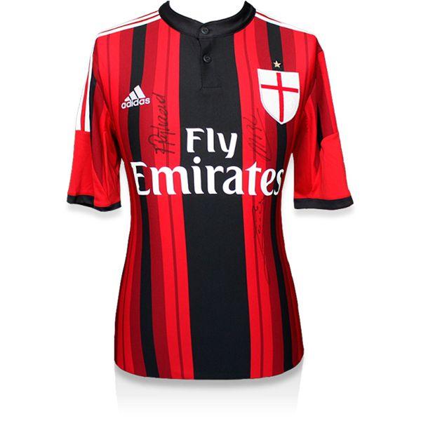 Marco Van Basten, Ruud Gullit and Frank Rijkaard Signed AC Milan 2014-15 Jersey