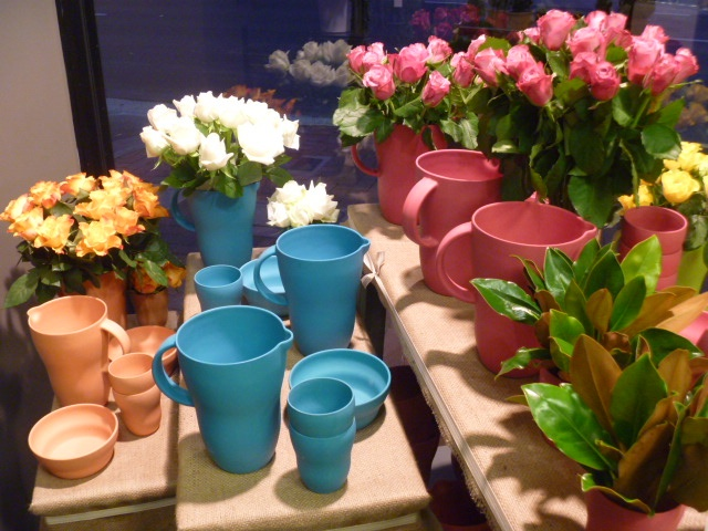 Bright and gorgeous bamboo table ware. Available at Tynte Flowers