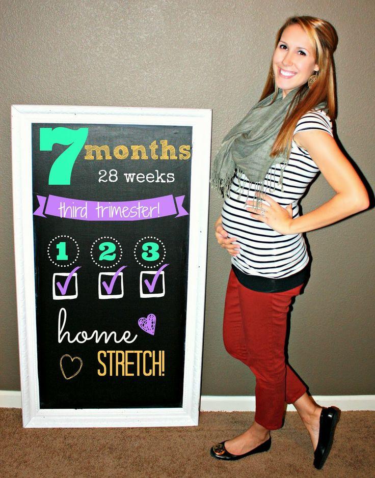 Pregnancy Chalkboard Tracker