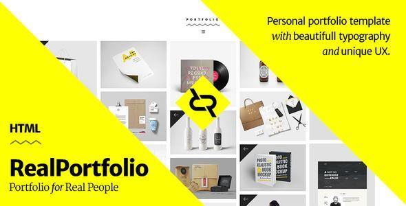 ThemeForest - RealPortfolio - Personal Portfolio Template  Free Download
