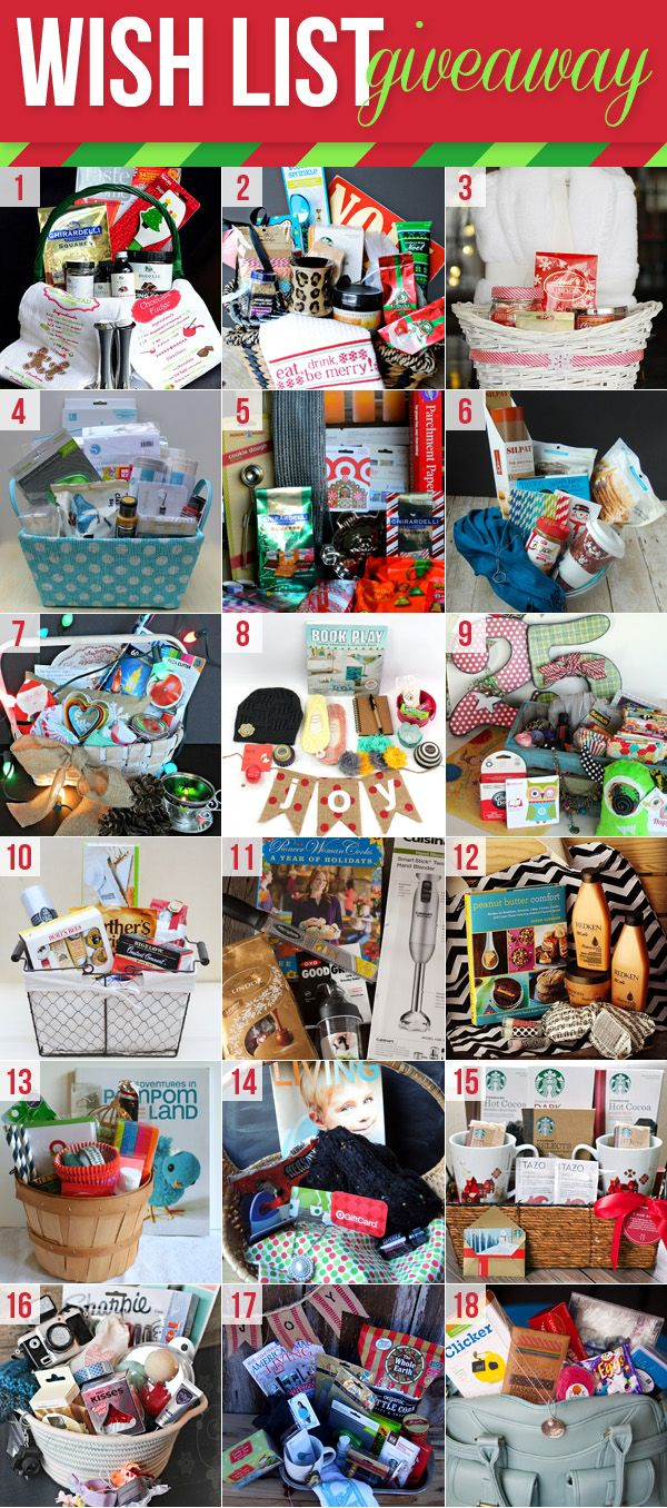 Christmas Wish List Giveaway- win prize packages from 18 different bloggers!