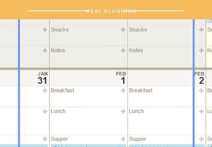 Using technology to meal plan.
