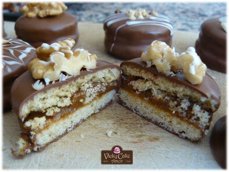 Alfajores de dulce de leche bañados en Chocolate