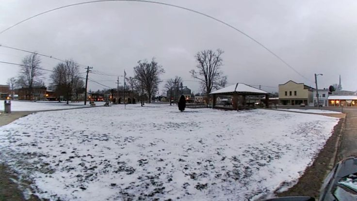 360 Andover Ohio Square with Snow , Small Town