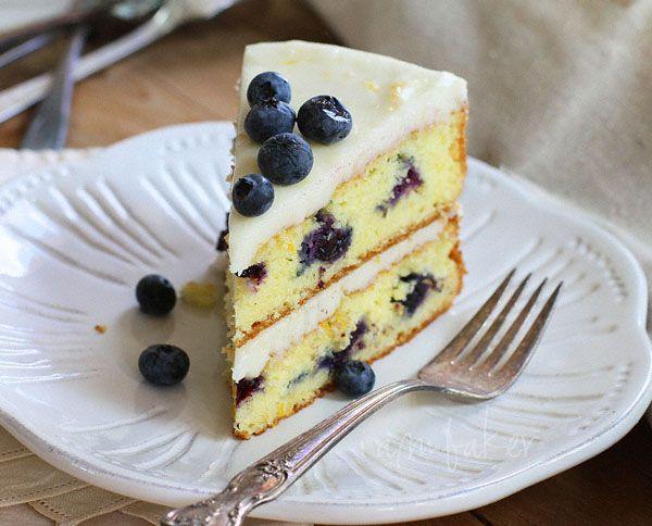 i am baker: Blueberry Citrus Cake: Layered Cakes, Food, Blueberries Cakes, I Am Baker, Cakes Recipes, Blueberries Citrus, Citrus Cakes, Cakes Simple, Cakes Thi