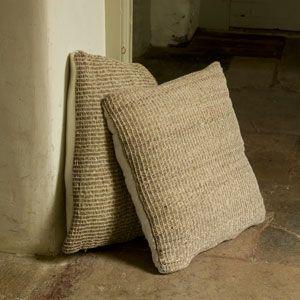 Coussin de sol ou de chaise carré en jute naturel Nkuku