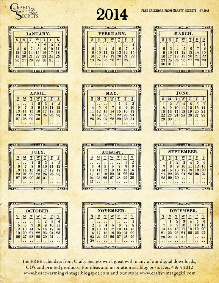 32 best calendars free printable 2014 images on Pinterest Free - sample julian calendar