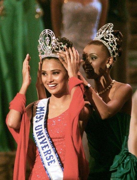 Miss Universo 2000. Lara Dutta, Miss India. NICHOLAS KAMM/AFP/GETTY