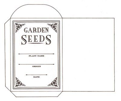 Printable template for seed packet pattern... | Content in a Cottage