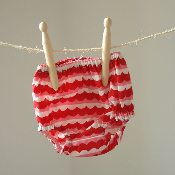Girls Frilly Knickers Pants In Pink and Red Scallop 0-3 Months FREE UK SHIPPING on Etsy, $22.33