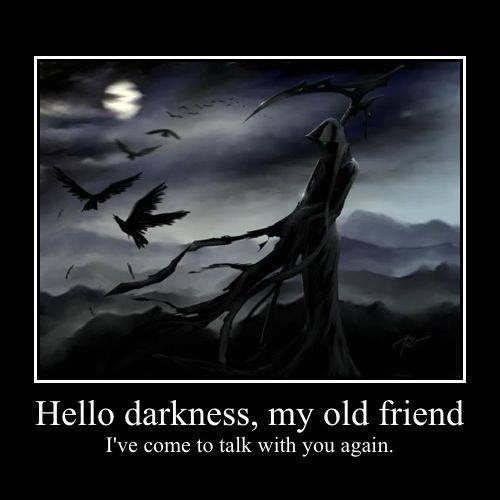 35 best hello darkness my old friend images on pinterest lyrics the words and thoughts. Black Bedroom Furniture Sets. Home Design Ideas