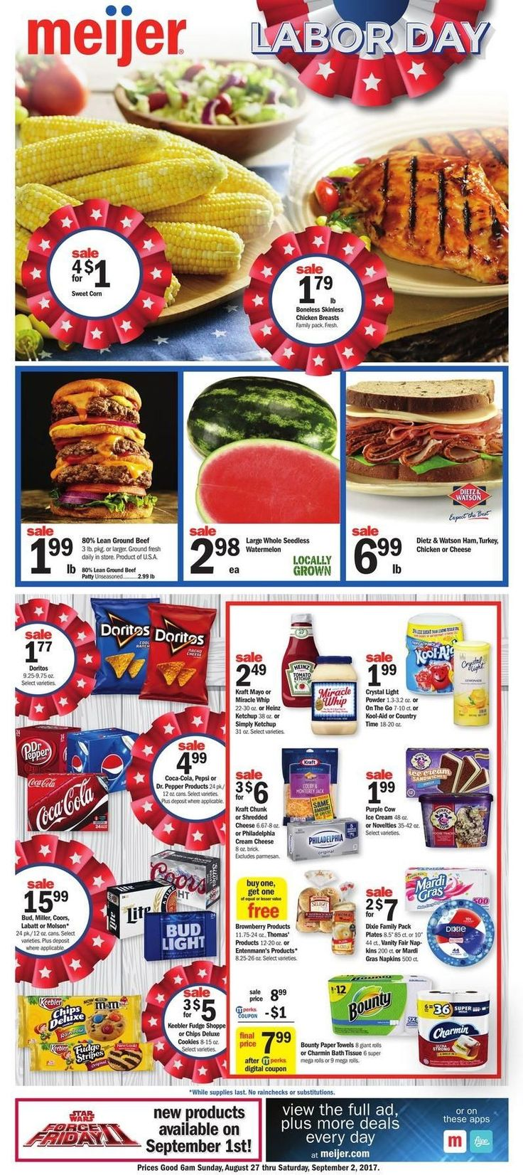 Meijer Weekly Ad August 27 - September 2 #grocery savings #Meijer circular. Labor day #laborday
