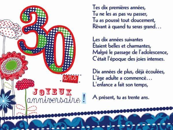 Texte D Anniversaire Pour Les 30 Ans Luxury 10 Textes Cartes Anniversaire 30 Ans Carte Anniversaire 30 Ans Joyeux Anniversaire 30 Ans Texte Carte Anniversaire