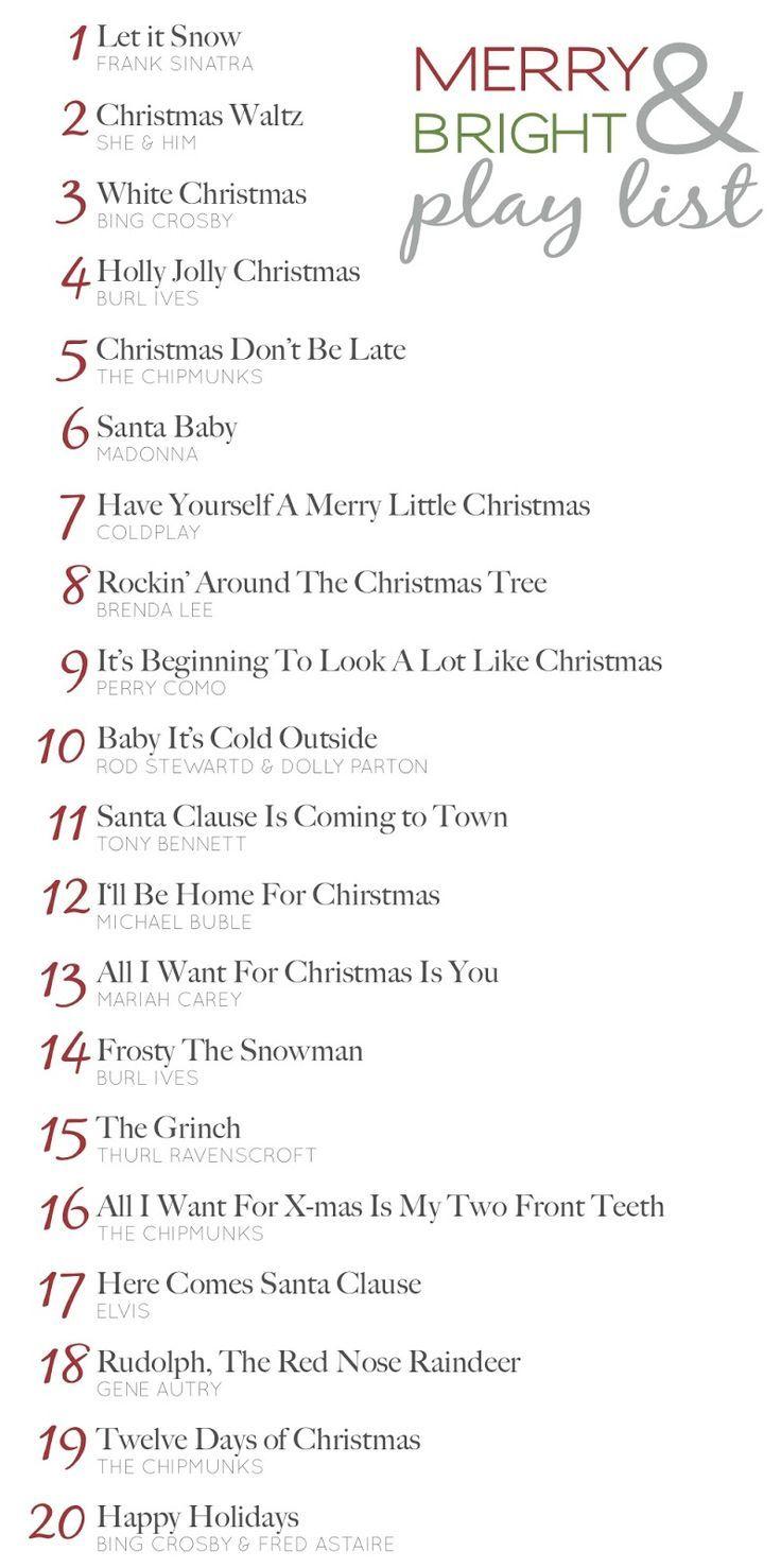 Christmas play list | Christmas ideas | Pinterest | Christmas ...