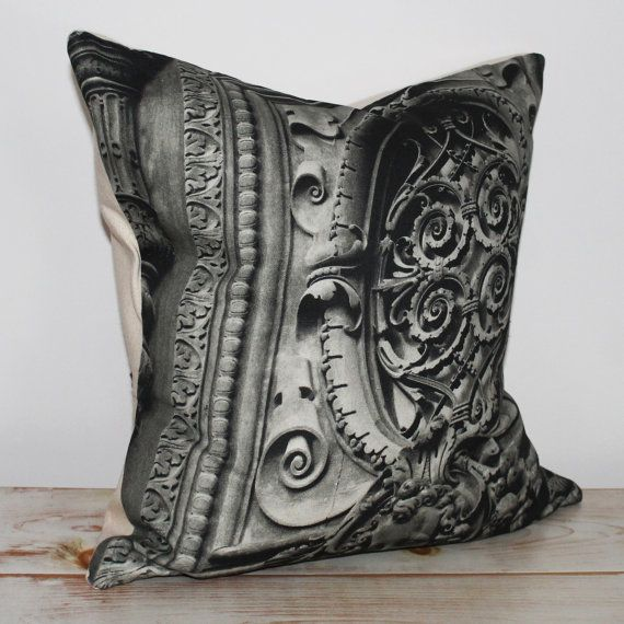 Decorative pillow cushion with black & white by CAYOCOCOCUSHIONS