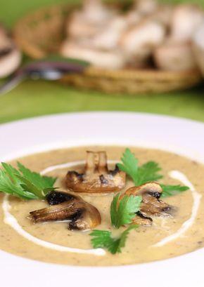 Prepară și tu o #supă cremă de #pui cu #ciuperci pentru un prânz delicios și dietetic.  #rețetă