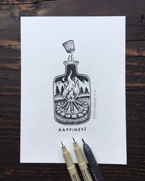 A little bottle of happiness for y'all. #art #illustration