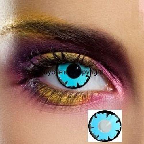 80055 lentille de couleur BLEU wizard LENS colored blue contact color lens mage