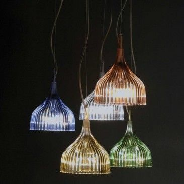 E-pendant by Kartell. $99. Polycarbonate. should look great in the different colots