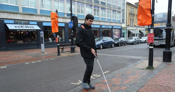 Blind charities protest at traffic lights switch-off in Reading town centre