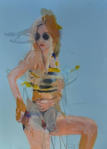 "Saatchi Art Artist Martin Sjardijn; Painting, ""Pose 1 - 2017"" #art"