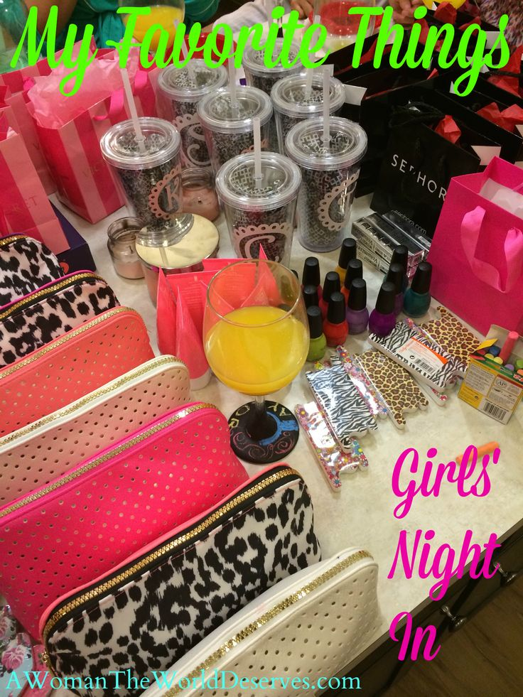 Planning My Favorite Things Girls' Night In Party is such an amazing experience. If gives you the opportunity to share things you love with people you love.